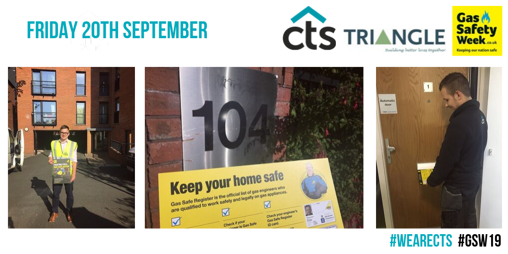 Team CTS attending a scheme of clients Triangle during gas safe week.