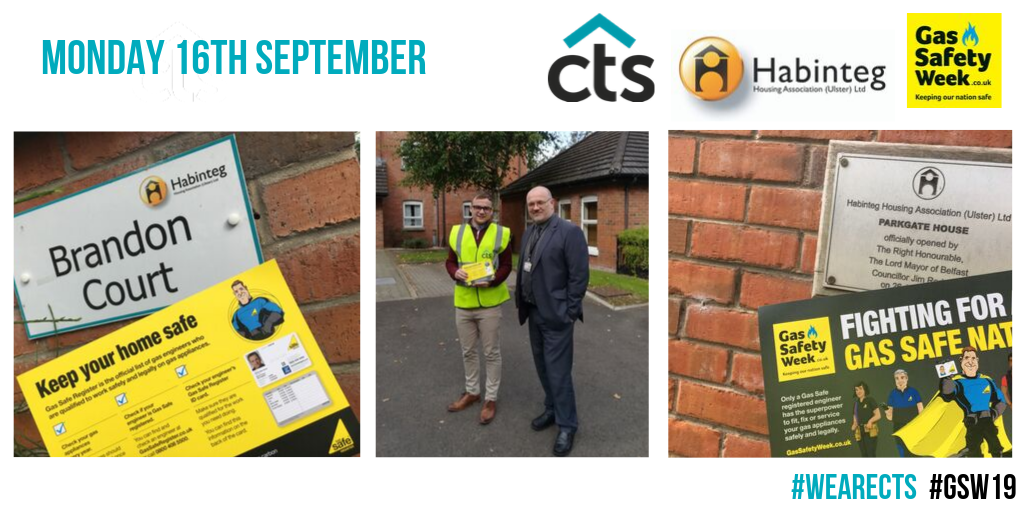 Team CTS attending a scheme of clients Habinteg Housing Association during gas safe week.