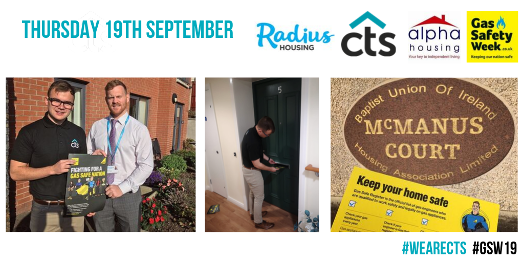 Team CTS attending a scheme of clients Radius Housing during gas safe week.