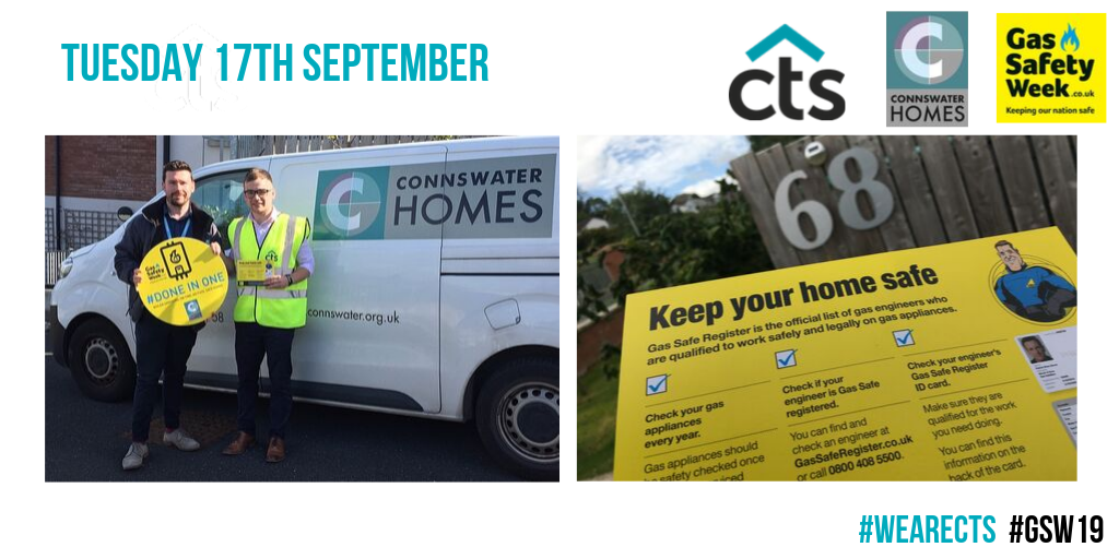 Team CTS attending a scheme of clients Connswater Homes during gas safe week.