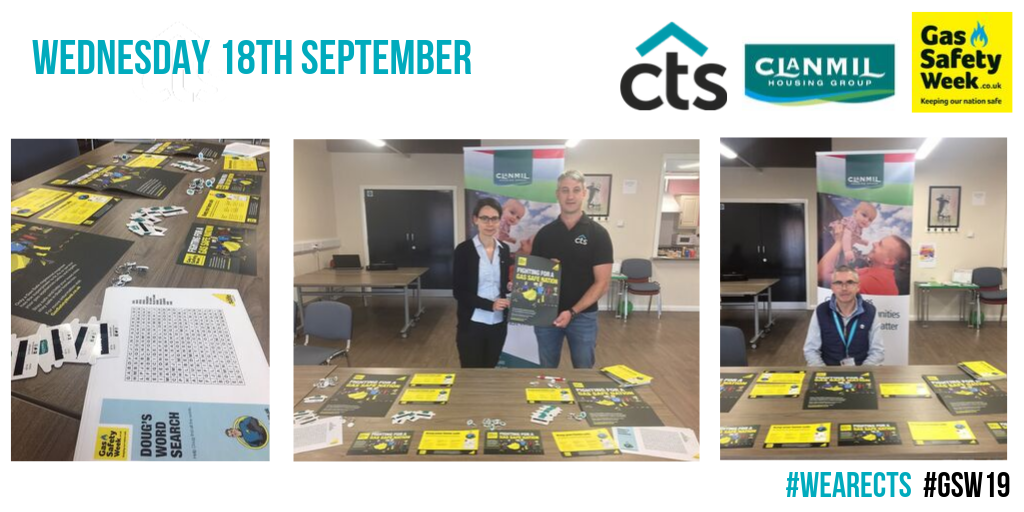 Team CTS attending a scheme of clients Clanmil during gas safe week.