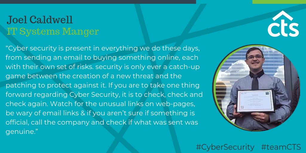 IT system manager quote on cyber security