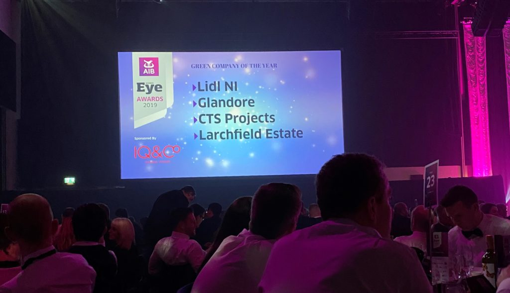 Green Company of the year Shortlist;  Lidle NI  Glandore  CTS Projects  Larchfield Estate