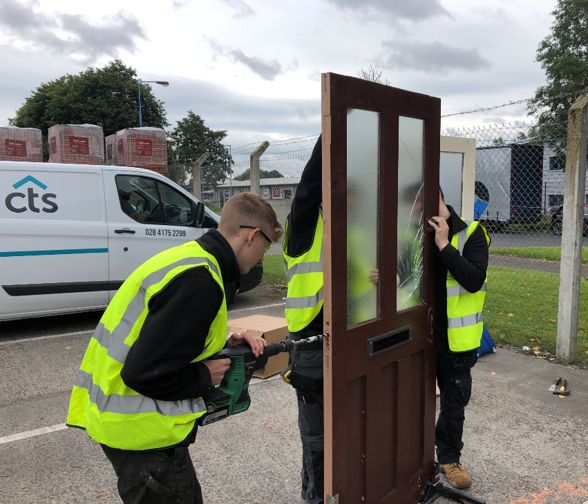 CTS apprentice Kai carrying out training